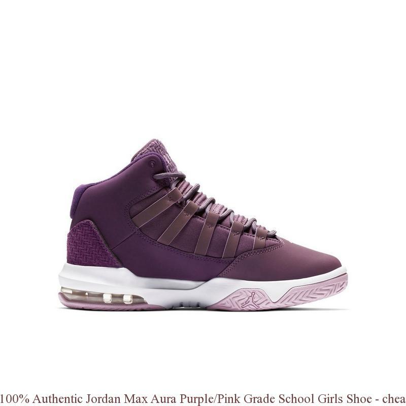 100% Authentic Jordan Max Aura Purple Pink Grade School Girls Shoe ... 3848815c8