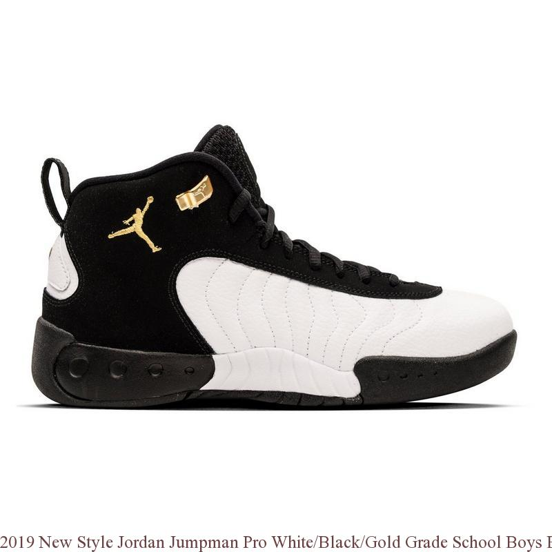 plus de photos 8eee2 8bfea 2019 New Style Jordan Jumpman Pro White/Black/Gold Grade School Boys  Basketball Shoe - cheap jordans in usa - 3581VWBG