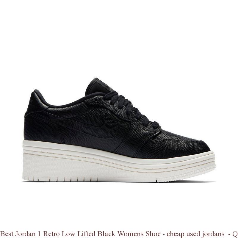 1ba5fc346f011b Best Jordan 1 Retro Low Lifted Black Womens Shoe – cheap used jordans ...