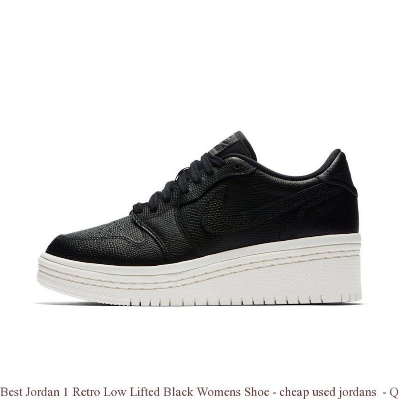 big sale 918d4 baf8f Best Jordan 1 Retro Low Lifted Black Womens Shoe - cheap used jordans -  Q0217