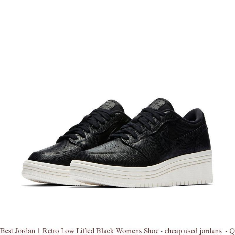 Best Jordan 1 Retro Low Lifted Black
