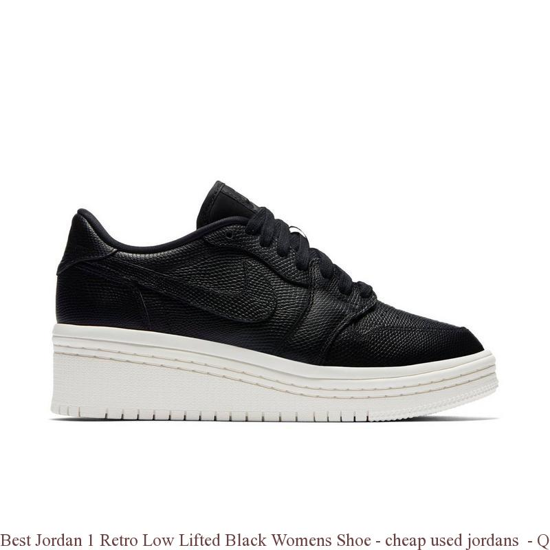 big sale 82ac0 1aa0e Best Jordan 1 Retro Low Lifted Black Womens Shoe - cheap used jordans -  Q0217