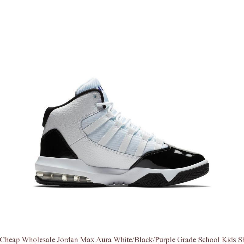 check out b0c31 7a5c5 Cheap Wholesale Jordan Max Aura White Black Purple Grade School Kids ...
