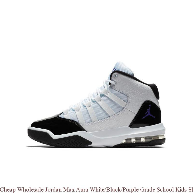 buy popular 3234a ce3de Cheap Wholesale Jordan Max Aura White/Black/Purple Grade School Kids Shoe -  cheap air jordan shoes - R0403