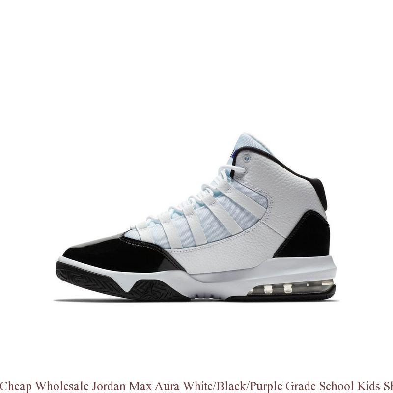 Cheap Wholesale Jordan Max Aura WhiteBlackPurple Grade School Kids Shoe cheap air jordan shoes R0403