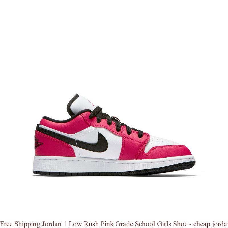 23cc1641e99b38 Free Shipping Jordan 1 Low Rush Pink Grade School Girls Shoe – cheap jordan  shoes ...
