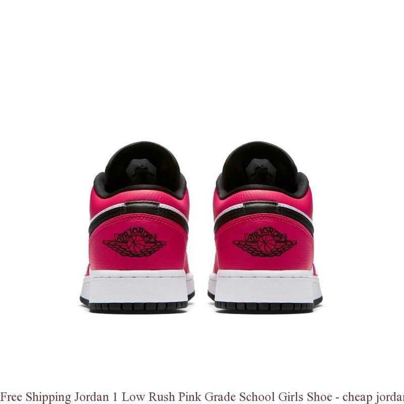 e60a263531e6e5 Free Shipping Jordan 1 Low Rush Pink Grade School Girls Shoe – cheap ...