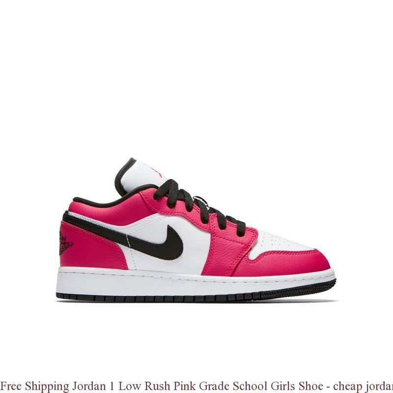 Free Shipping Jordan 1 Low Rush Pink Grade School Girls Shoe , cheap jordan  shoes grade school , S0228