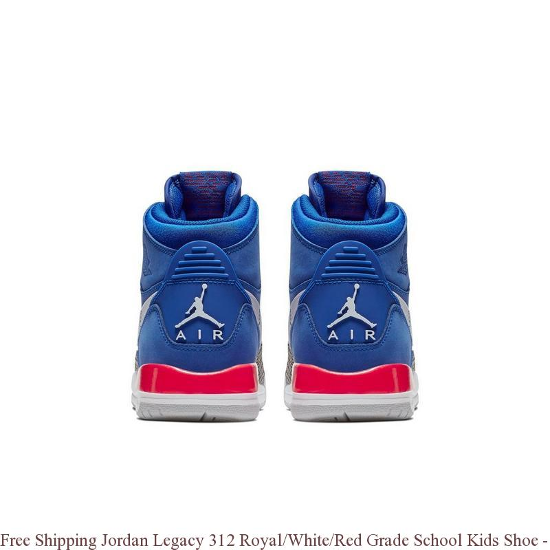 aaee2b1eafd73 Free Shipping Jordan Legacy 312 Royal/White/Red Grade School Kids ...